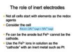 the role of inert electrodes
