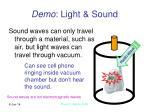 demo light sound