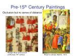pre 15 th century paintings