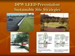 dpw leed presentation sustainable site strategies7