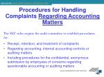 procedures for handling complaints regarding accounting matters