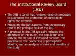 the institutional review board irb
