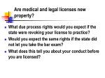 are medical and legal licenses new property