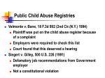 public child abuse registries