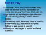 identity play