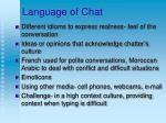 language of chat