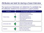 attributes we look for during a case interview