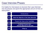 case interview phases