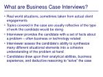 what are business case interviews
