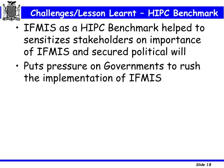 Challenges/Lesson Learnt – HIPC Benchmark
