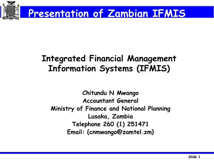 integrated financial management information systems ifmis n.