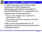 way forward pemfa programme