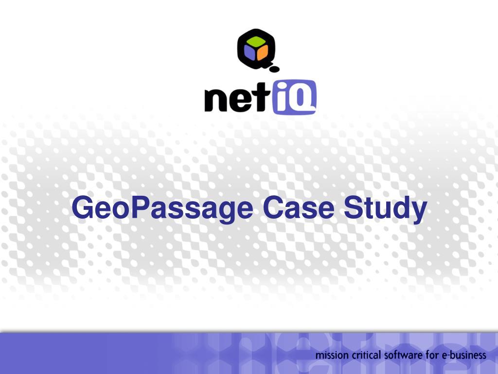 GeoPassage Case Study