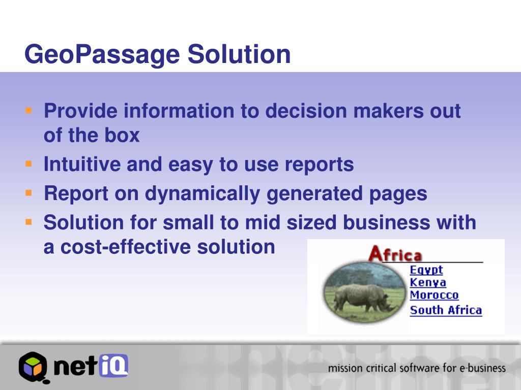 GeoPassage Solution