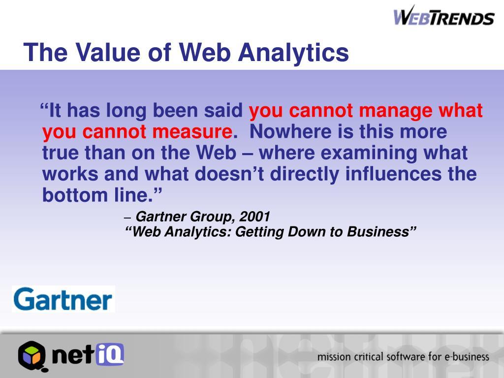 The Value of Web Analytics