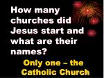 how many churches did jesus start and what are their names