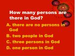 how many persons are there in god