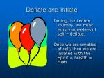 deflate and inflate