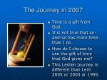 the journey in 2007