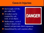 cave in injuries