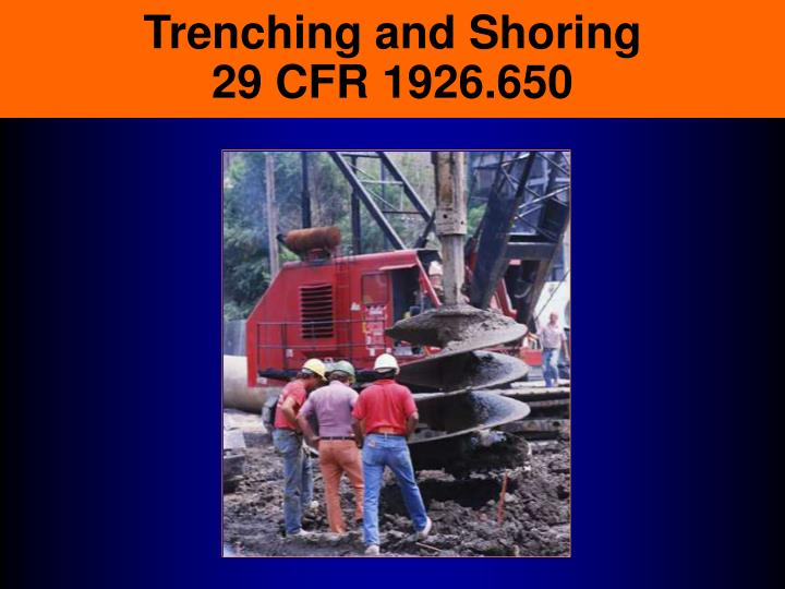 trenching and shoring 29 cfr 1926 650 n.