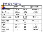 storage metrics