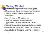 tuning mindset