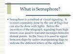 what is semaphore