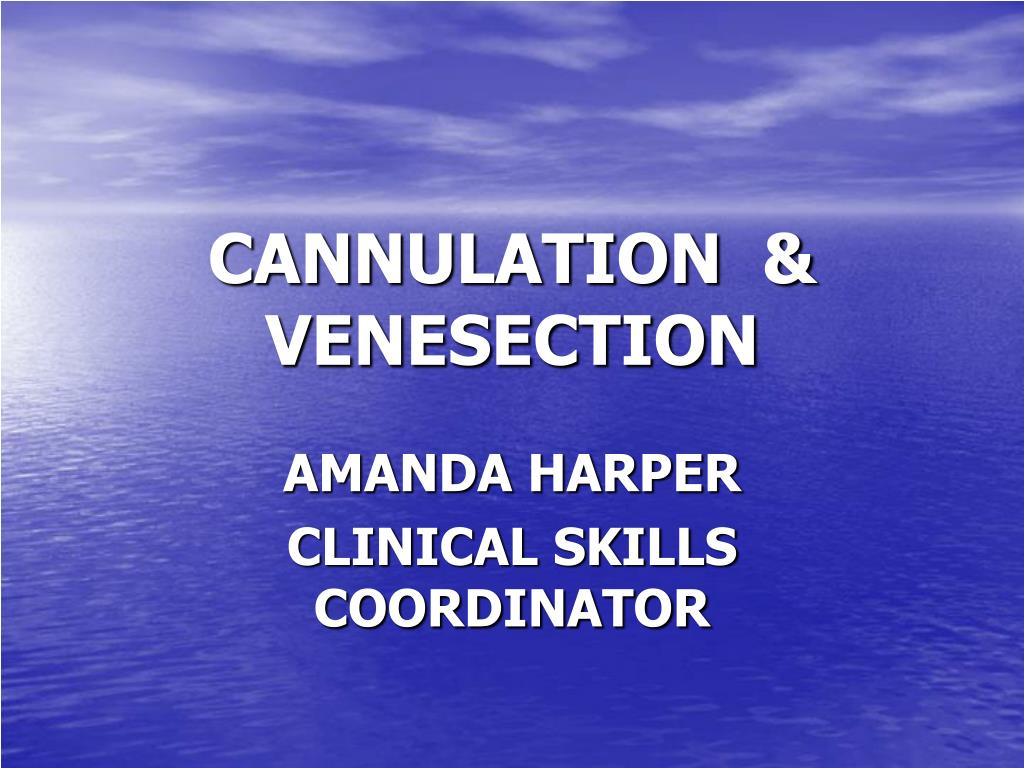 cannulation venesection l.