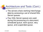 architecture and tools cont