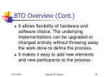 bto overview cont