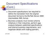 document specifications cont