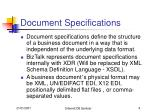 document specifications