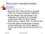 document transformation cont