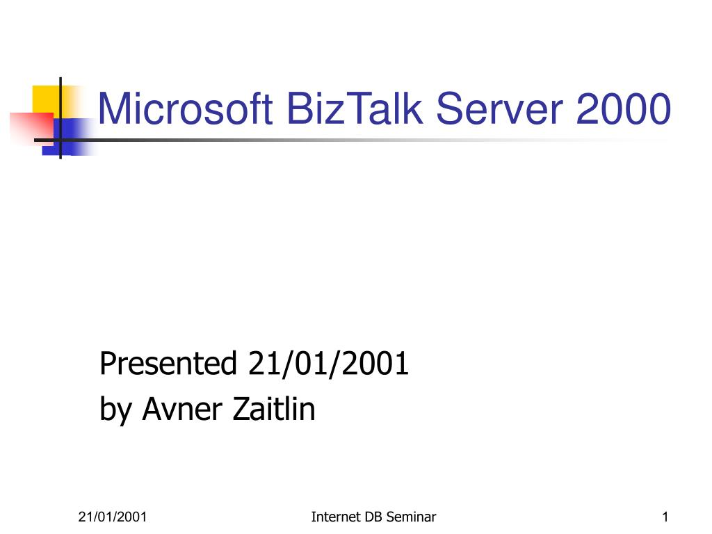 microsoft biztalk server 2000 l.