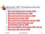 microsoft net enterprise servers