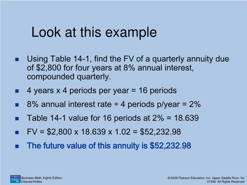 Ppt 14 1 Future Value Of An Annuity Powerpoint