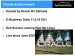 oracle environment