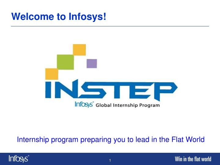 Welcome to infosys