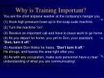 why is training important1
