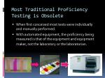 most traditional proficiency testing is obsolete