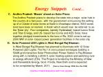 energy snippets contd