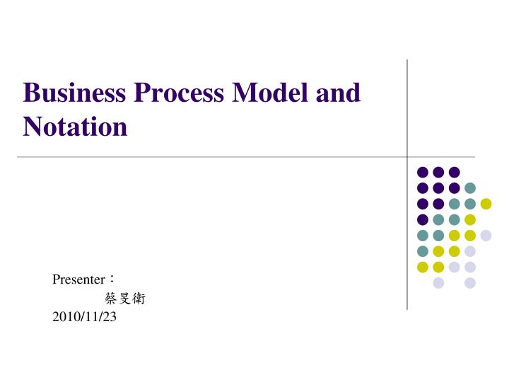business process model and notation n.