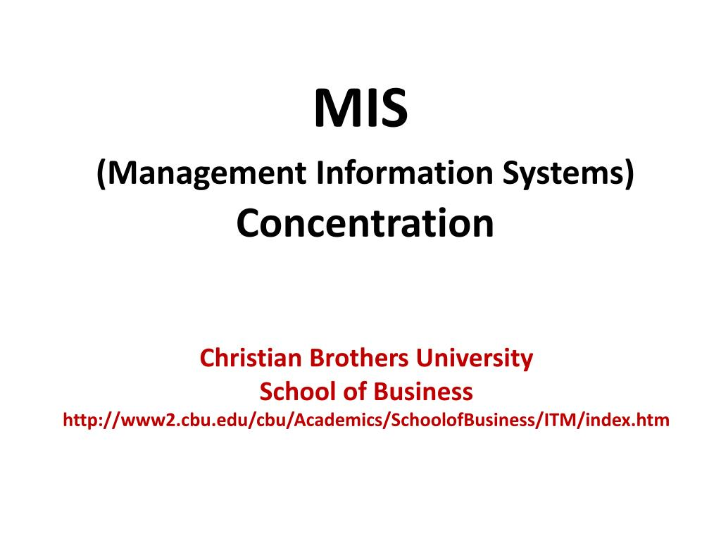 mis management information systems concentration