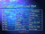 examples cruise line port