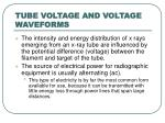 tube voltage and voltage waveforms