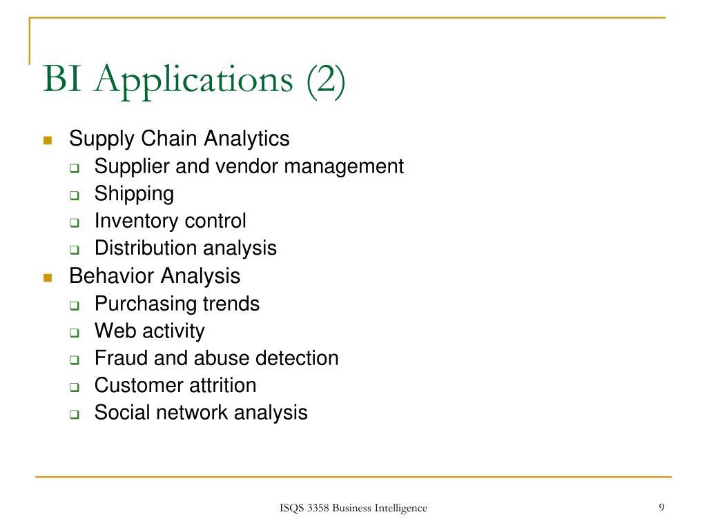 BI Applications (2)