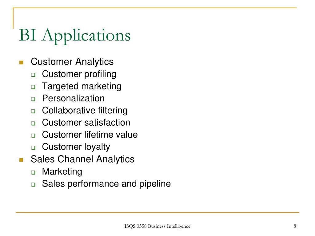 BI Applications