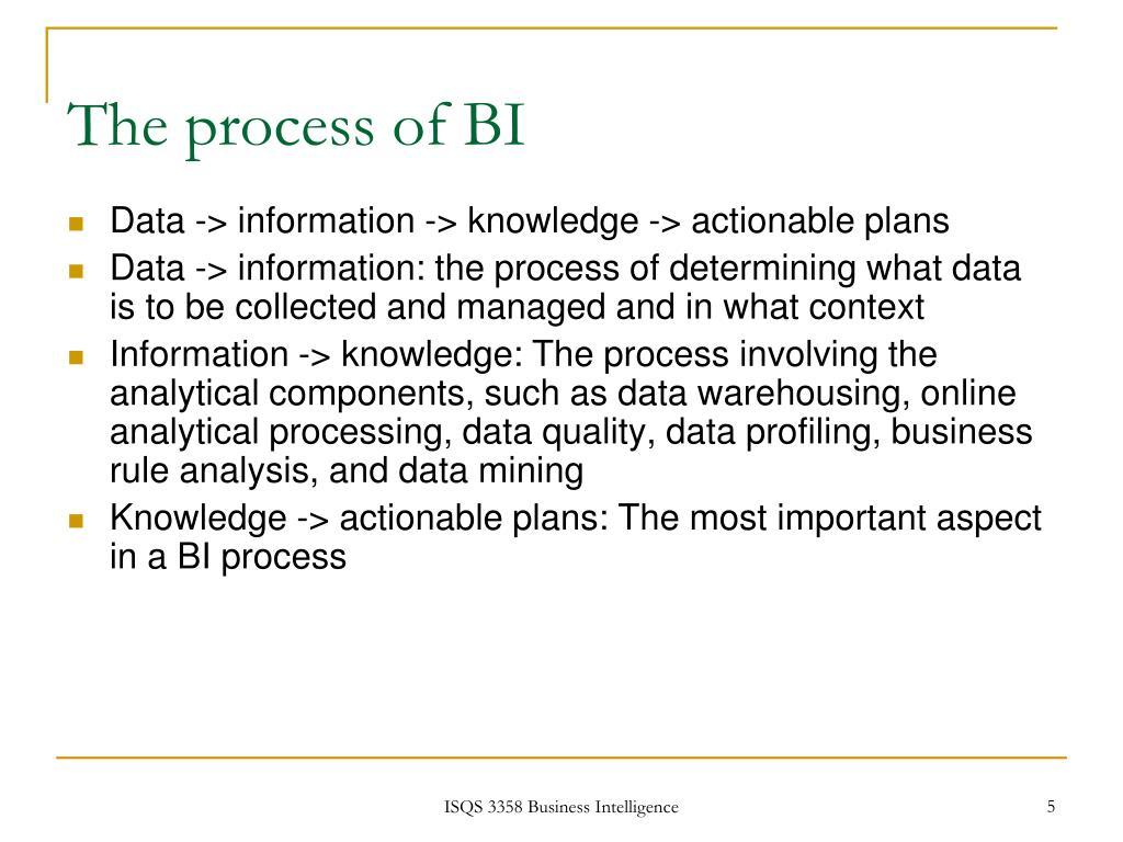 The process of BI