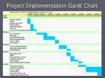 project implementation gantt chart